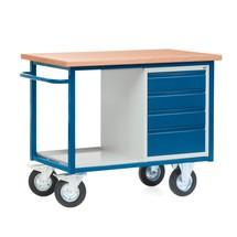 Kompaktowy stół warsztatowy z 4 szufladami