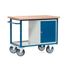 Kompaktowy stół warsztatowy z szafką dwudrzwiową