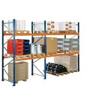 Komplet pakke med pallereol SCHULTE type S, sektionsbelastning op til 12.040 kg
