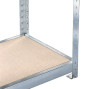 Kompletní sada širokého regálu META, s dřevotřískovými deskami, nosnost regálu 500 kg