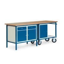 Kompletny zestaw kompaktowy ława warsztatowa stacjonarny i mobilny