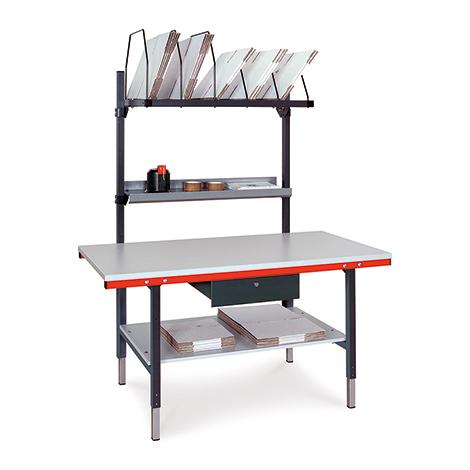 Komplett-Packplatz höhenverstellbar mit 1 Schublade