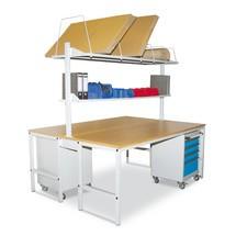 Komplett-Packtisch, doppelseitig, mit Buche-Multiplex Arbeitsplatte