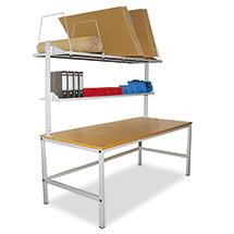 Komplett-Packtisch einseitig. 1846 x 930 mm (HxT)