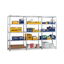 Komplettpaket Fachbodenregal META Schraubsystem, Fachlast 80 kg,3 Felder, verzinkt