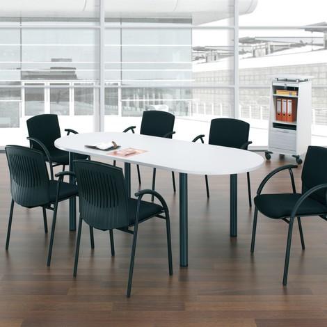 Konferencebord oval form