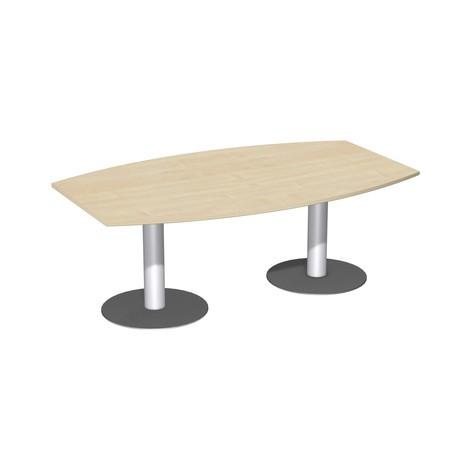Konferenčný stôl hlaveň v tvare, so základňou dosky