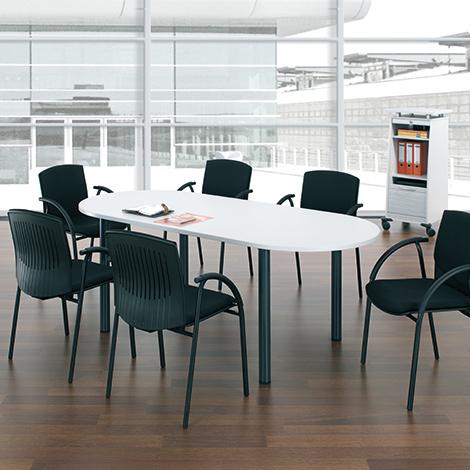 Konferenztisch oval, LxBxH 2000x1000x720 mm