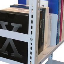 Kopwandbegrenzingen voor kantoorstelling inhaaks. Ameise® Universal 300,eenzijd.