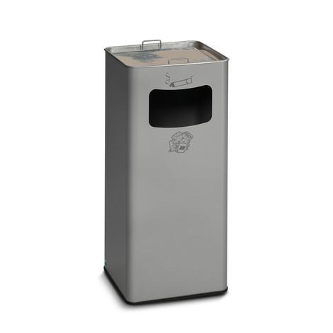 Kosz na śmieci z popielniczką VAR®, model stojący, 96,1 litra
