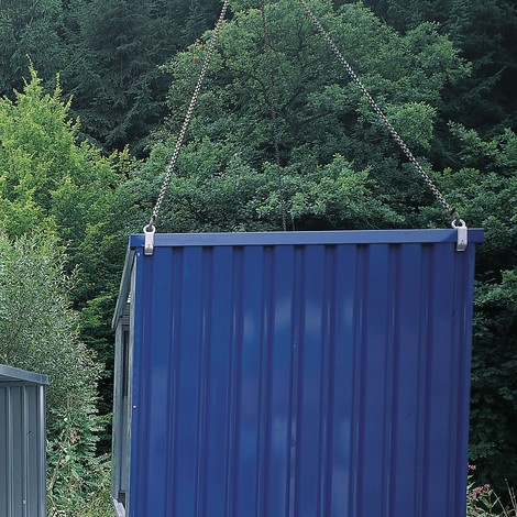 Kraanophanging voor leeg transport van magazijnboxen