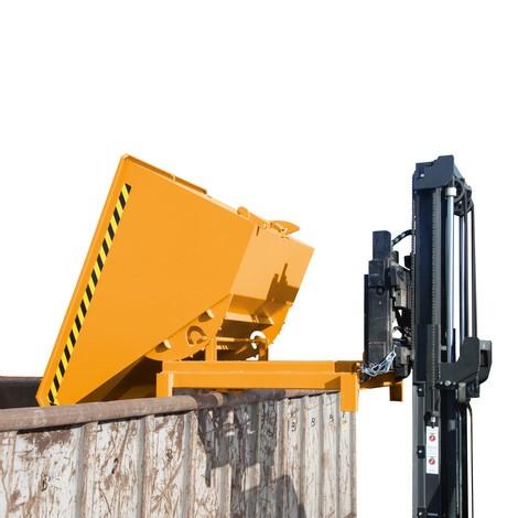 Kraftig tippetank, belastningskapacitet 4.000 kg, galvaniseret