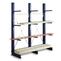 Kragarmregal META Anbaufeld, einseitig, Tragkraft pro Arm bis 430 kg