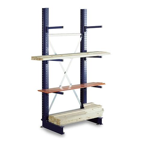 Kragarmregal META einseitig. 2 Ständer. Tragkraft bis 430kg je Arm