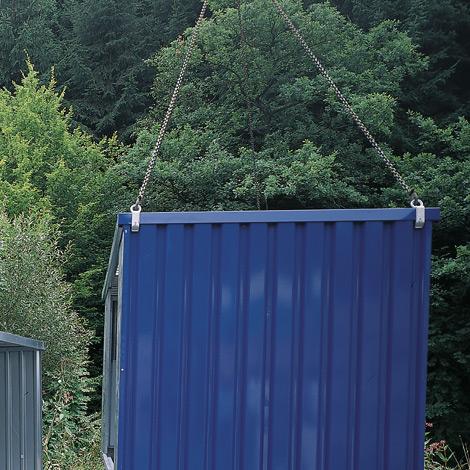 Kranaufhängung für Leertransport von Magazinboxen
