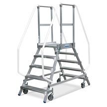 KRAUSE® stojan cové schodiště, oboustranné, pohyblivé