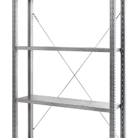 Kreuzverband für Fachbodenregal Steck. Fachlast bis 360kg