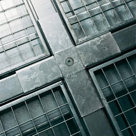 Kreuzverbinder für Flach-Auffangwanne aus Stahl, Tragkraft 6.500 kg/m²