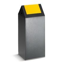 Kringloop afvalbak van plaatstaal. Puntdak. 60 l, 1 vak
