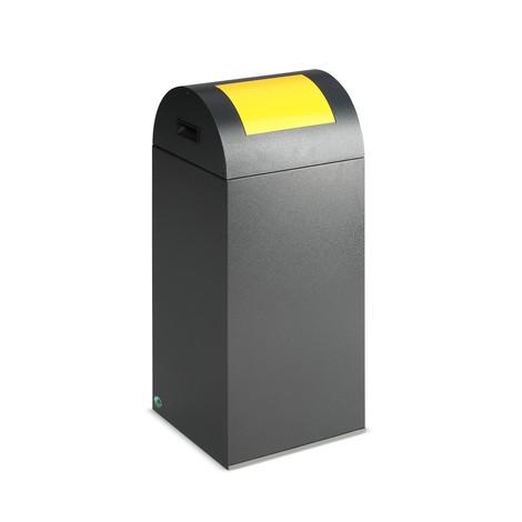 Kringloop afvalbak VAR®, 60 liter, vuurdovend, van verzinkt en gepoedercoat staal, deksel rond
