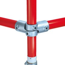 Kruisverbinding, 2-delig, voor het buisverbindingssysteem Kee Klamp®