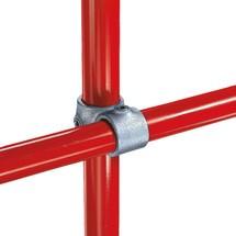 Kruisverbinding met 2 doorgangen voor het buisverbindingssysteem Kee Klamp®