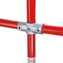 Kruisverbinding met 2 insteken voor het buisverbindingssysteem Kee Klamp®