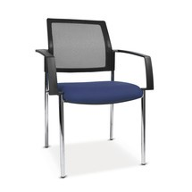 Krzesło dla gości Topstar® BtoB 10 z oparciem siatkowym