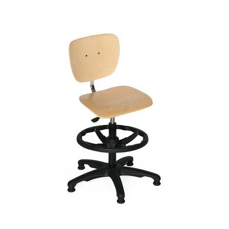 Krzesło obrotowe bukowe