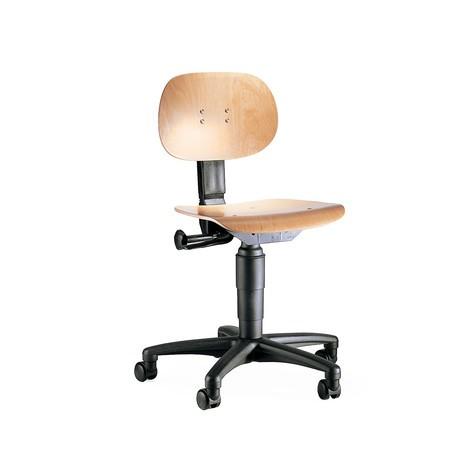 Krzesło obrotowe bukowe z podwójnymi kółkami bezpieczeństwa
