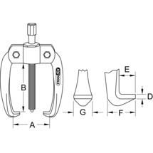 KS TOOLS Basic-Universal-Abzieher 2-armig