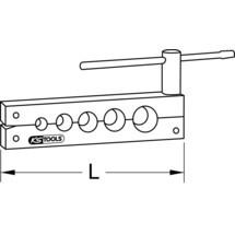 KS TOOLS Bördelleiste 6,0 - 14,0 mm