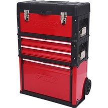 KS Tools Fahrbarer Kunststoff-Stahlblech-Werkzeugkasten
