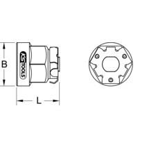 KS TOOLS GEARplus® Bit-Adapter