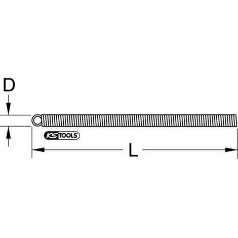 KS TOOLS Innenbiegefeder für PE-Kunststoffrohre