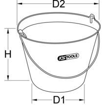 KS TOOLS Kunststoff-Eimer