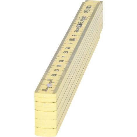 KS TOOLS Kunststoff-Gliedermaßstab, gelb