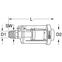 KS TOOLS Messing-Druckluft-Wasserabscheider