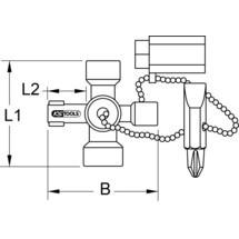 KS TOOLS Mini-Schaltschrankschlüssel