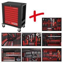 KS Tools Performanceplus Werkstattwagen-Satz P15 mit 397 Werkzeugen für 7 Schubladen