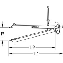 KS TOOLS Präzisions-Feder-Spitzzirkel mit auswechselbaren Spitzen