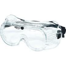KS TOOLS Schutzbrille mit Gummiband - transparent