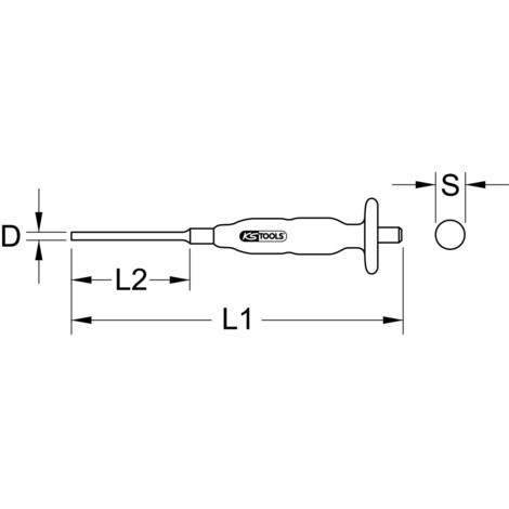 KS TOOLS Splintentreiber, Zylinderform