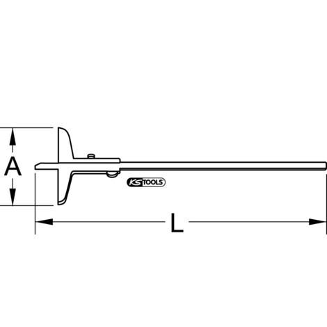 KS TOOLS Tiefenmessschieber 0 - 500 mm