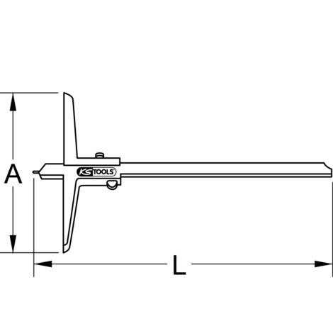 KS TOOLS Tiefenmessschieber mit Messstift 0 - 500 mm