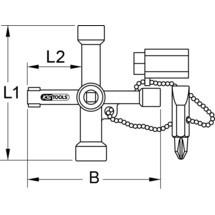 KS TOOLS Universal-Schaltschrankschlüssel