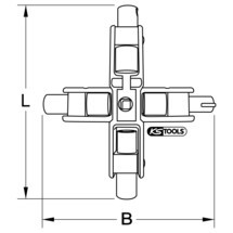 KS TOOLS Universal-Schaltschrankschlüssel Elektro