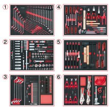 KS Tools Universal-Systemeinlagen-Satz für 6 Schubladen mit 404 Premium-Werkzeugen