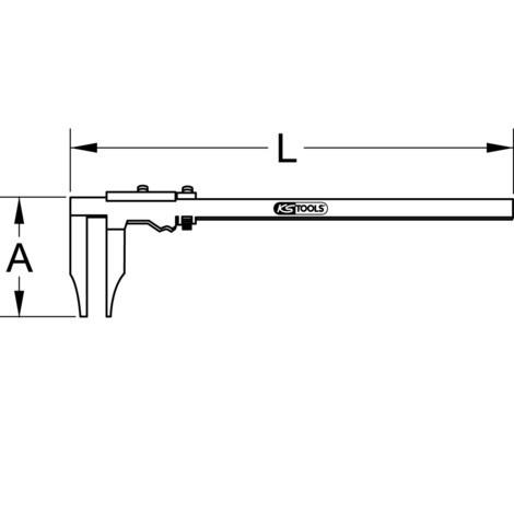 KS TOOLS Werkstatt-Messschieber ohne Spitzen 0 - 500 mm
