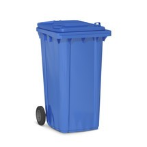 Kunststof vuilcontainer met 2 wielen, inhoud 80 l, diverse kleuren